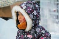 winter coat girl snow cold