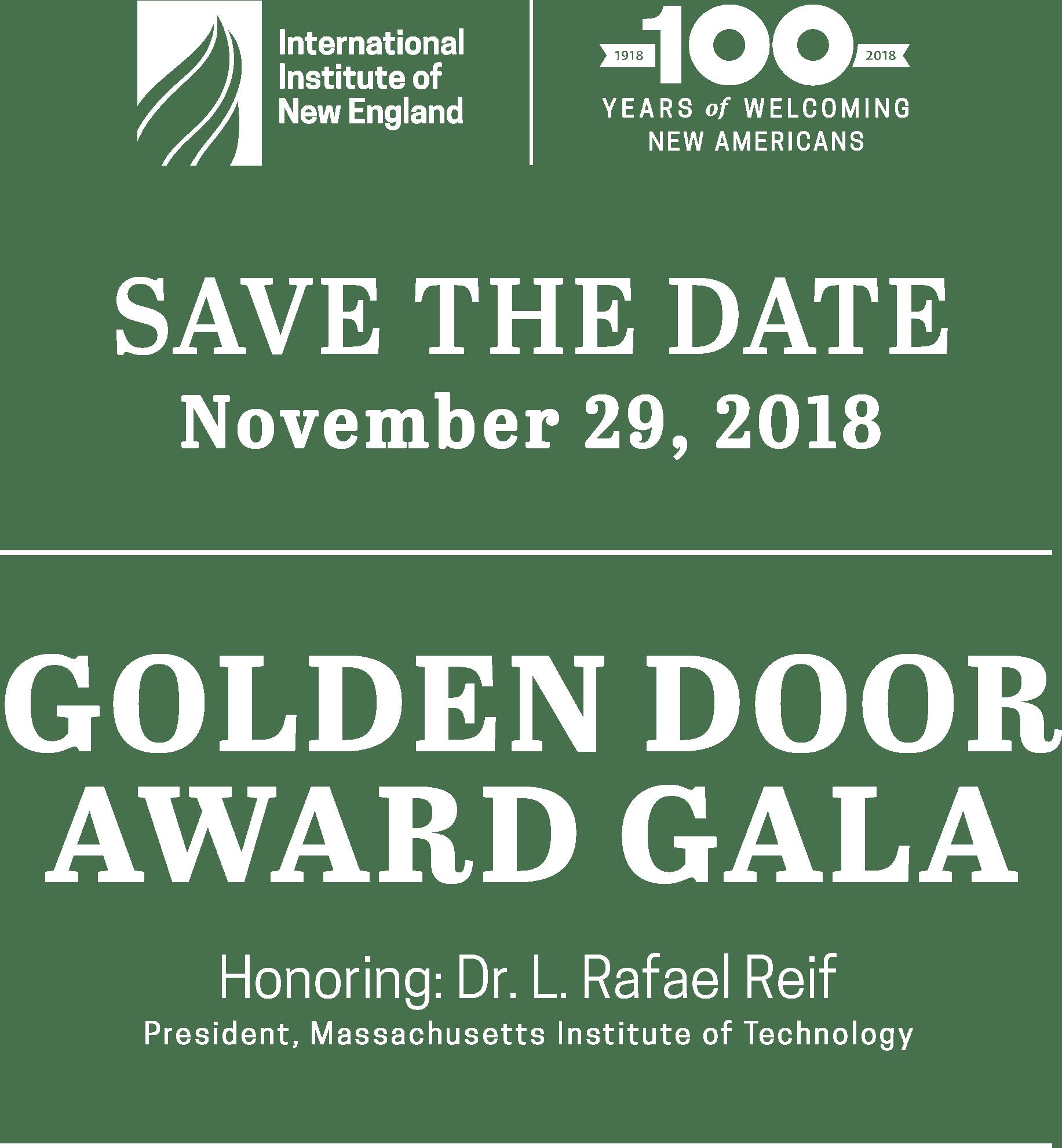 November 29, 2018 Golden Door Award Gala