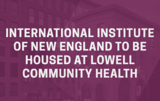 Purple overlay of Lowell Community Health Center