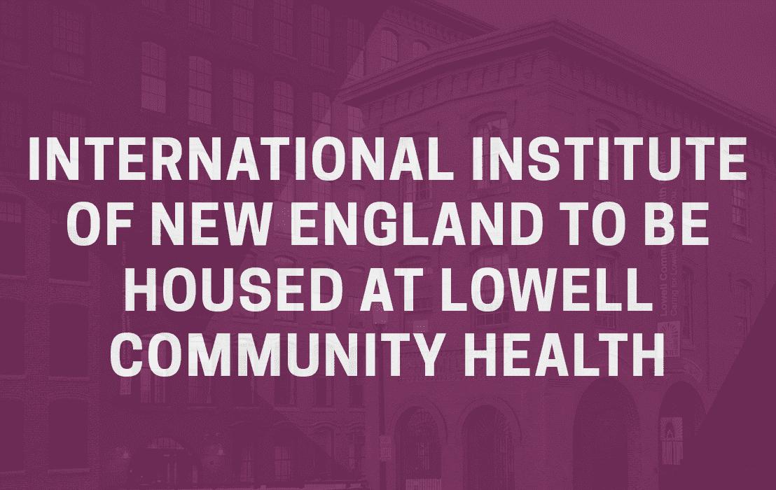Purple overlay of Lowell Community Health Center